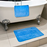 Lavish Home 2-Piece Memory Foam Bath Mat Set, Blue