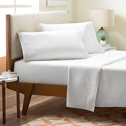 Linenspa Brushed Microfiber Ultra Soft Bed Sheet Set - Wrinkle Resistant - Full Size - White