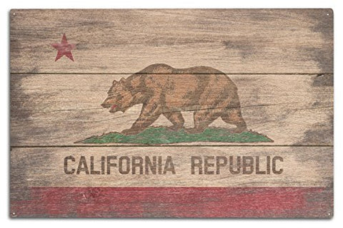Rustic California State Flag (10X15 Wood Wall Sign, Wall Decor Ready To Hang)