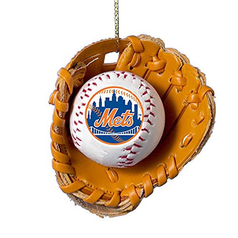 Kurt Adler New York Mets Baseball In Glove Ornament