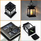 Kyson Solar Power Vintage Latern Candle Twinkle Effect 2 Leds Outdoor Waterproof Hanging Umbrella Garden Pathway Stairs Wall Led Lamp Light