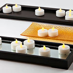 100 White Flameless Tea Lights With Realistic Flickering Amber Led, Value Pack, Resin, Indoor/Outdoor Use, Batteries Included