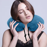 L'Alysse Neck Pillow-Memory Foam Airplane Travel Pillow (Blue)