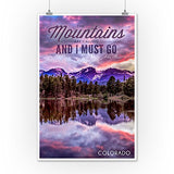 John Muir - The Mountains Are Calling - Colorado - Sunset And Lake - Photograph (12X18 Collectible Art Print, Wall Decor Travel Poster)