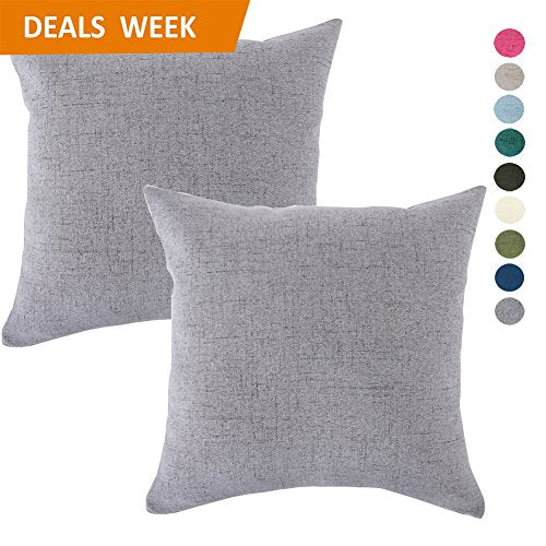 Set of 4 Lady Cushion Cover Gray Sofa Couch Throw Outdoor Polyester Pillowcase