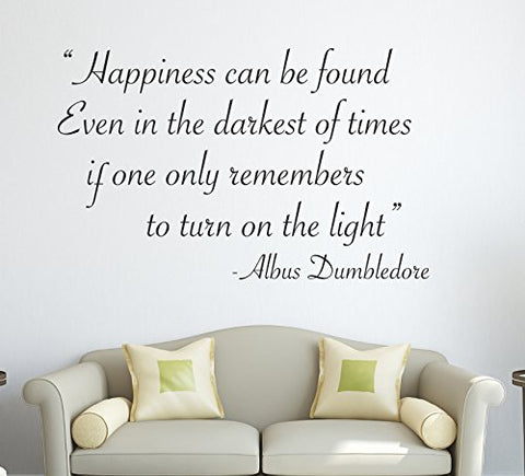 Harry Potter Happiness Can Be Found.... Albus Dumbledore Wall Decal Quote Sticker Art Decor Vinyl