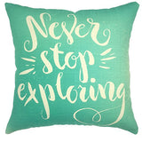 Your Smile Inspiring Quote Cotton Linen Square Decorative Throw Pillow Case Cushion Cover 18X18 Inch Mint