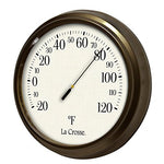 Lacrosse 104-108 Analog Round Thermometer, 8.5