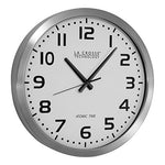 La Crosse Technology Wt-3161Wh 16-Inch Metal Atomic Analog Clock