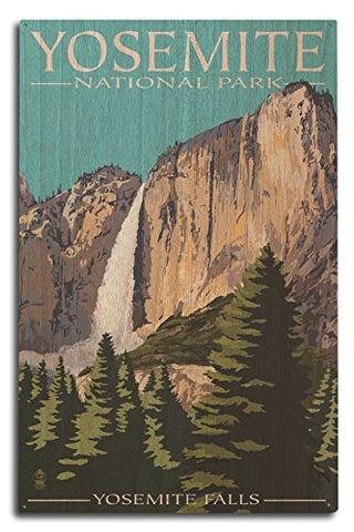 Yosemite National Park, California - Yosemite Falls (10X15 Wood Wall Sign, Wall Decor Ready To Hang)