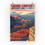 Grand Canyon National Park - Mather Point (12X18 Art Print, Wall Decor Travel Poster)