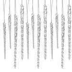 24 Piece Set Kurt Adler 3.5-5.5 Assorted Clear Glass Icicle Ornaments (4)