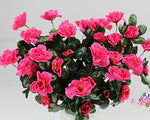 Lopkey Outdoor Artificial Red Azalea Bush Rose Red