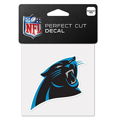 Carolina Panthers Perfect Cut Color Decal 4 X 4 New Wall Decal Nfl