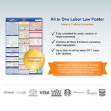 2017 Texas (Spanish) Labor Law Poster  State & Federal Compliant  Laminated