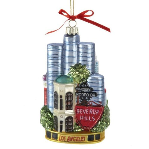 Kurt Adler C4054 Los Angeles Glass Cityscape Ornament, 5-1/2-Inch