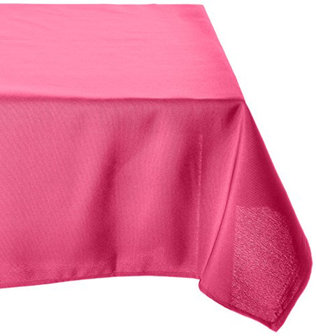 Linentablecloth 60 X 126-Inch Rectangular Polyester Tablecloth Fuchsia