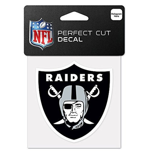 Oakland Raiders Perfect Cut Color Decal 4 X 4 New Wall Decal Nfl
