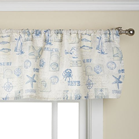 Lorraine Home Fashions By The Sea Valance, 60 By 12-Inch