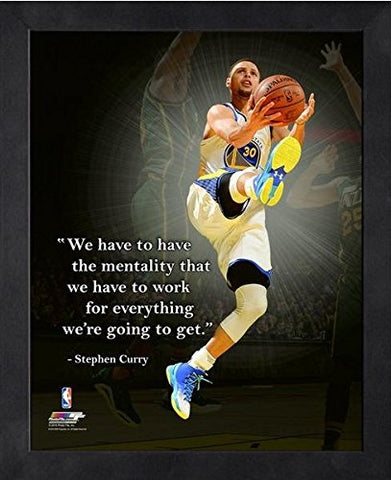 Stephen Curry Golden State Warriors Nba Proquotes Photo (Size: 9  X 11 ) Framed