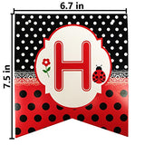 Langxun Ladybug Happy Birthday Paper Banner | Birthday Party Decorations Streamers