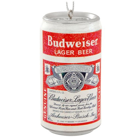 Vintage Budweiser Beer Can Christmas Ornament Bud Lager Decoration New