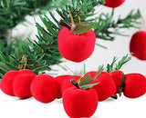 Lanue Christmas Red Apples Christmas Tree Decorations Hanging Ornaments Xmas Party Decor,24Pcs