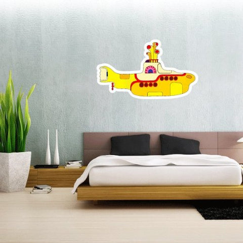 The Beatles Yellow Submarine Wall Graphic Decal Sticker 25 X 15