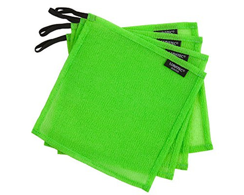 Lunatec Odor-Free Dishcloths. The Perfect Scrubber, Dish Cloth, Sponge And Scouring Pad To Clean Your Dishes, Pots & Pans, And Kitchen Gear. Ideal For Home, Rv, Boat Galley And Camp Site. (4, Lime)