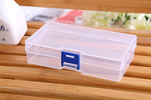 Lautechco 3Pcs Transparent Box Cosmetics Storage Box Plastic Small Rectangle Pp Box With Lid Parts Box