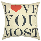 Your Smile Love Cotton Linen Square Decorative Throw Pillow Case Cushion Cover 18X18 Inch(44Cm44Cm) (Ys050602)