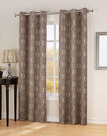 Sun Zero Ravi Thermal Lined Energy Efficient Curtain Panel, 40 X 84, Wine Red