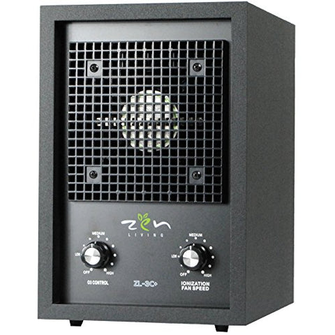Zen Living Zl-3C+ Ionic Air Purifier For Smokers With Oversized Carbon Filter, Dual Plate Ozone Generator, & Ionizer