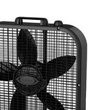 Lasko 3 Speed Save Smart 20 Inch Box Fan With Easy Carry Handle, Black