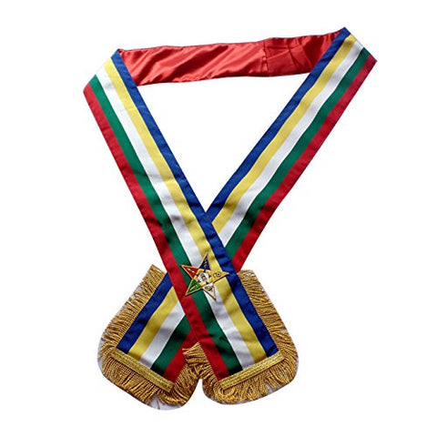 Masonic Eastern Star Oes Sash Five Colour Sash