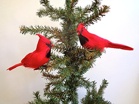Raz Imports - 7 Clip-On Cardinal Ornaments - Set Of 2