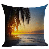 Ocean View Printed Cushion Cover Livebycare Linen Cotton Cover Throw Pillow Case Sham Pattern Zipper Pillowslip Pillowcase For Drawing Room Sofa Couch Chair Back Seat
