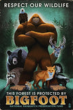 Respect Our Wildlife - Bigfoot (16X24 Giclee Gallery Print, Wall Decor Travel Poster)