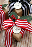 Laribbons Red And White Striped Grosgrain Ribbon / Gift Wrap Ribbon, 1 Inch By 10 Yard / Spool
