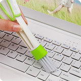 Lautechco Multifunctional Double Cleaning Brush Head Window Blind Duster Cleaner For Car Air Outlet Keyboard Air Condition