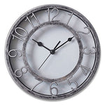 Smarten Arts - 8  Silver Silent Quartz Wall Clock Non-Ticking Digital Clock
