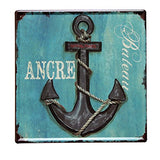 Lares Domi Retro Style Wall Dcor Vintage Finish Ship Anchor Tin Sign 12'' X 12''