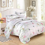 La Mejor Queen Size Duvet Cover Sets Lightweight - The Butterfly In The Flower Design Hotel Quality Brushed Microfiber1Duvetcover+2Pillowcases)