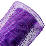 Laribbons Sparkling Deco Mesh 20 Inch By 10 Yards Great For Christmas Tree (Purple)