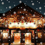 Littlegrass 48Pcs Snowflakes Window Cling Christmas Snowflakes Decorations Christmas Window Stickers Christmas Window Decorations Indoor