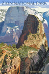 Zion National Park - Angels Landing (9X12 Art Print, Wall Decor Travel Poster)