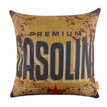 Linkwell 18X18 Metal Look Rusted Gas Gasoline Logo Burlap Cushion Covers Pillow Case (Cc1035)