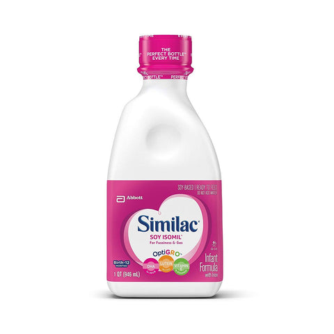 Similac Soy Isomil, Ready To Feed - 2 Pack, Each Bottle 32 Oz