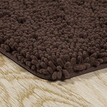 Lavish Home 2 Piece Memory Foam Shag Bath Mat Chocolate