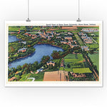 Notre Dame, Indiana - Aerial View Of The University (12X18 Collectible Art Print, Wall Decor Travel Poster)